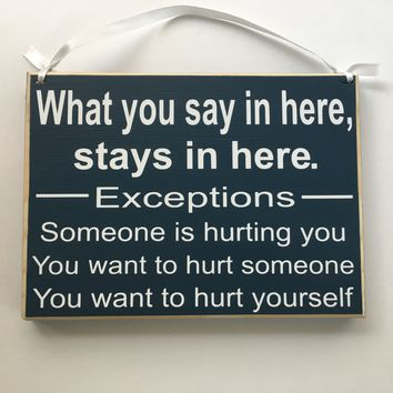 10x8 What You Say Here Custom Wood Sign