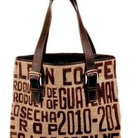 Coffee Tote Bag - Guatemala Eco-friendly | shkaala - Bags & Purses on ArtFire