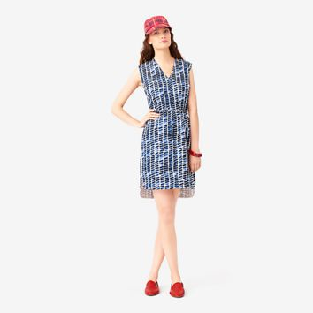 Kate Spade Saturday V-neck Tunic Dress In Indigo Block