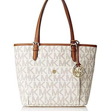 michael kors jet set women s travel medium logo tote handbag
