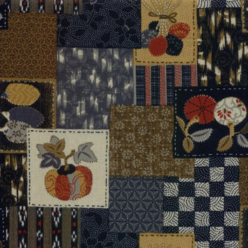 Patchwork Japanese Indigo Cotton Quilting Fabric KW-3370-12A