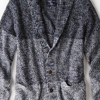 AEO Men's Marled Colorblock Cardigan (Navy Twist)