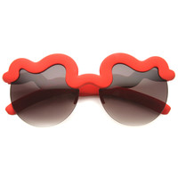 Novelty Fashion Squiggly Design Round Sunglasses 9927
