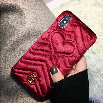 GUCCI Trending Fashion Casual Print iPhone Phone Cover Case For iphone 6 6s 6plus 6s-plus 7 7plus hard shell