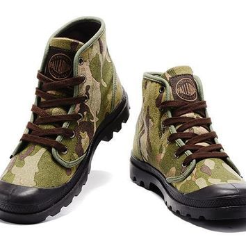Palladium Pampa Hi Originale Tx High Boots Camouflage Beige - Beauty Ticks