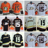 Anaheim Ducks 15 Ryan Getzlaf Jersey Sport Stadium Series Ice Hockey Black White Orange Team Color For Sport Fans Embroider Logos