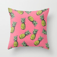 fresh pineapple! Throw Pillow by Penelope Prince | Society6