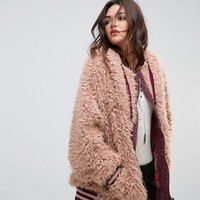Free People Fluffy Dolman Jacket at asos.com