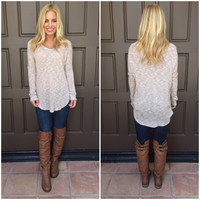 Tamara V-Neck Sweater - TAN