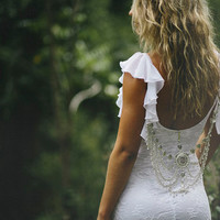 Beautiful low back fitted white French lace by Graceloveslace