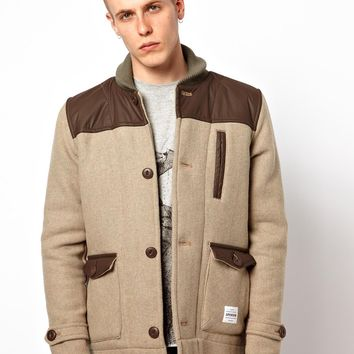 Supremebeing Coat Shawl Collar Wool Jacket