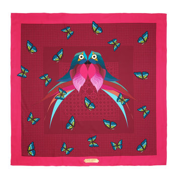 Love Bird Silk Square Scarf