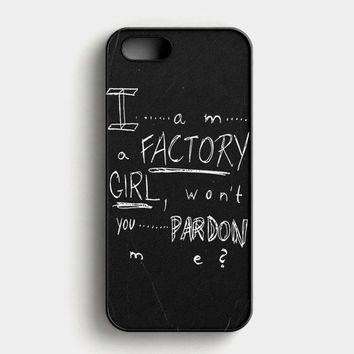 Pretty Reckless  Factory Girl Lyric Cover iPhone SE Case