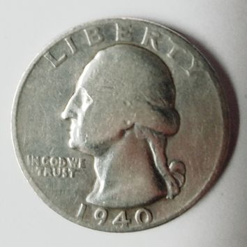 1940-D Washington Quarter Silver Quarter. Shiny w/a Possible RPM D/D HOT COIN!