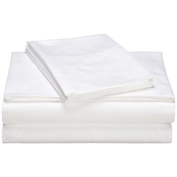 Full size 400-Thread Count Egyptian Cotton Sheet Set in White