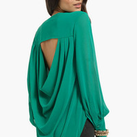 Draping Back Blouse $37