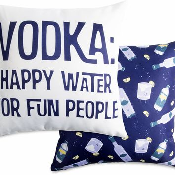 Happy water for fun people Throw Pillow