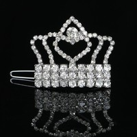 2017 Rhinestone Bling Princess Crown Puppy Dog Hair Clips Pet Ornament Accessories Teddy Yorkshire Grooming Barrettes Hairpin