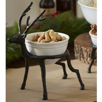 REINDEER CEREAL BOWL HOLDER & CAMBRIA BOWL