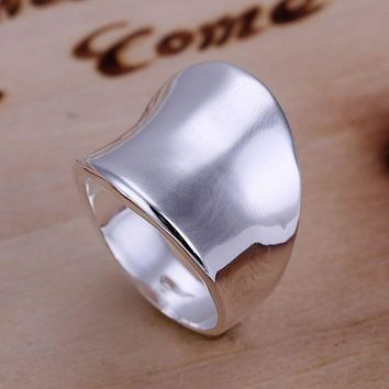 Plated Sterling Silver Rings Fashion Jewelry Promise Rings Rings for Women Rings for Men