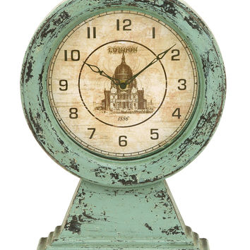 Old Look London Themed Table Top Clock