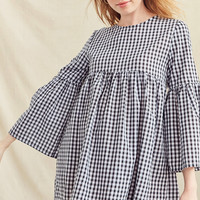 Urban Renewal Remade Bell Sleeve Gingham Dress | Urban Outfitters