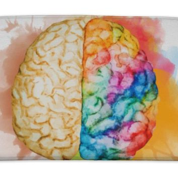 Bath Mat, Watercolor Brain
