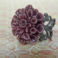 Exotic Cranberry Purple Ring FREE SHIPPING by CreativeKates