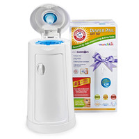 Munchkin Arm & Hammer Diaper Pail Set with 3 Refills, 2 Baking Soda Cartridges and $50 Coupon Booklet