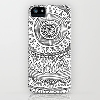 Floral Circle iPhone Case by Leahschmidt | Society6