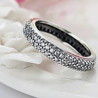 Silver Color Inspiration Within Stackable Zircon Pandora Rings Compatible Jewelry For Women Wedding Accessories Gift
