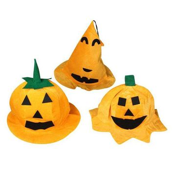 DCCKH6B Hat Halloween Pumpkin Dress Up The Hat Devil Dress Up Props Party Activities Supplies