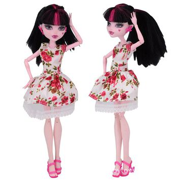 NK One Set  New Arrival Handmade Cortical Clothes & Sportswear Fashion Dress For Monster High Doll  For  BJD Dolls Best Gift