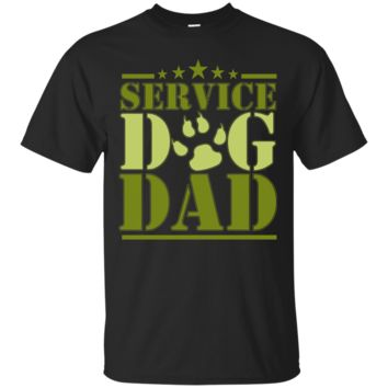 Men's Service Dog Dad ~ Shirt for Disabled American Veterans T-shirt