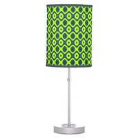 Yellow Blue and Green Colorful Retro Pattern Table Lamp