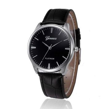 CREYN3C Hot Sale Saat PU Leather Band Mens Watches Top Bra