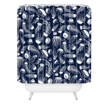 Jennifer Denty Jellyfish Shower Curtain