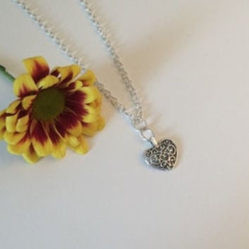 Heart pendant necklace.