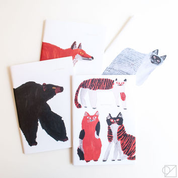 Miroco Machiko A5 Animal Notebooks