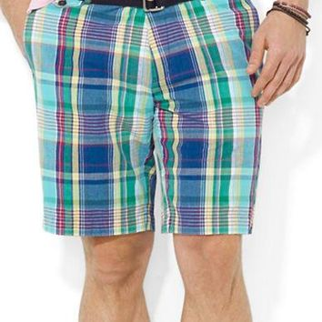 Polo Ralph Lauren Classic-Fit Hudson Madras Shorts