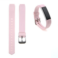 SnowCinda Fitbit Alta Classic Silicone Accessory Replacement Bands with Buckle-Blush