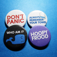 Hitchhiker's Guide to the Galaxy Pinback Button Set