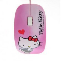 Fashionable Design Hello Kitty 3D USB Optical Mouse (Pink) China Wholesale - Everbuying.com