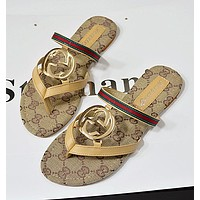 Gucci WOMEN SANDALS FLIP FLOPS FLAT SLIPPER BEACH