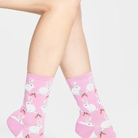 Women's Hot Sox 'Bunnies' Crew Socks