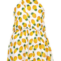 White Pineapple Print Cover Up - Swimwear - Clothing - Topshop
