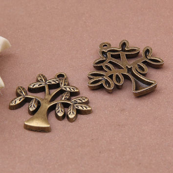 Trees Antique Charms Women's Fashion & Jewelry Accessories Pendants for Blacelets Chains and Necklaces