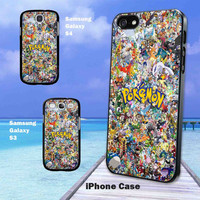 All Pokemon Character iPhone 4/4s/5, Samsung Galaxy S3/S4 Case