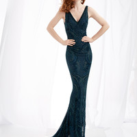 Lush by Jasz Couture 1364 V-neck Prom Dress