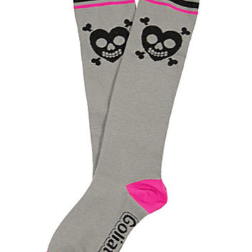 Love Sick Skulls Knee High Socks